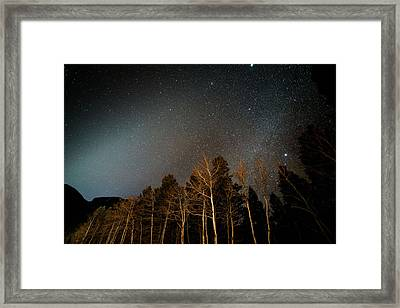 Zodiacal Light Meets Winter Milky Way Framed Print by Mike Berenson