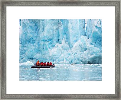 Zodiaks Off The Russian Research Vessel Framed Print