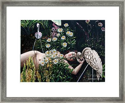 Zoe's Flamingo Framed Print by Shelley Laffal
