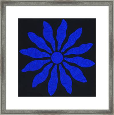 Zol Blue Framed Print by Dave Migliore