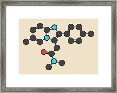 Zolpidem Insomnia Drug Molecule Framed Print