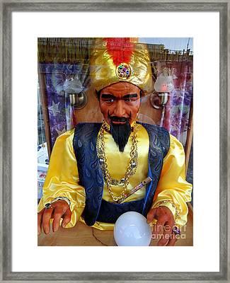 Framed Print featuring the photograph Zoltar by Ed Weidman