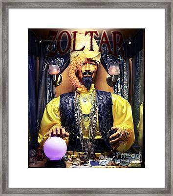 Zoltar Framed Print by John Rizzuto
