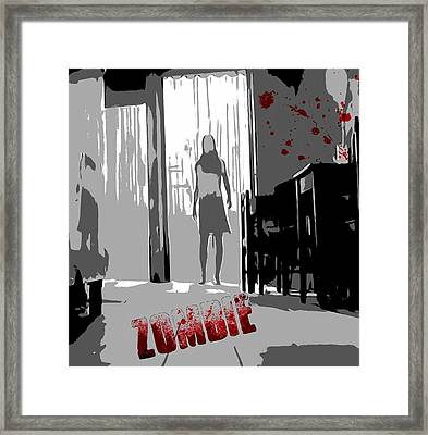 Zombie Attack Framed Print