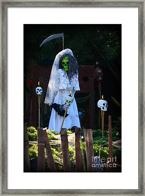 Zombie Bride Framed Print by Patrick Witz