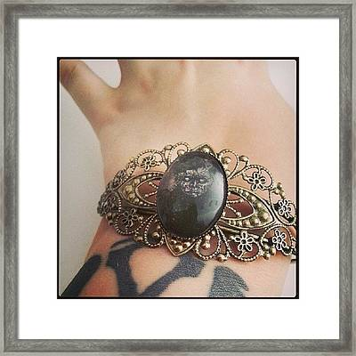 #zombie #bronze #jewelry #victorian Framed Print