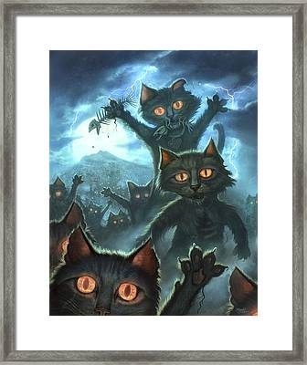 Zombie Cats Framed Print by Jeff Haynie