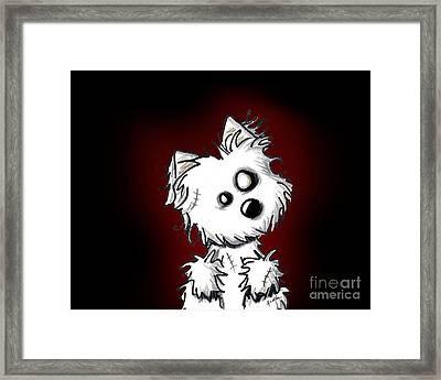 Zombie Dog Framed Print by Kim Niles