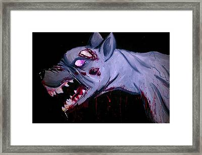 Zombie Dog Framed Print