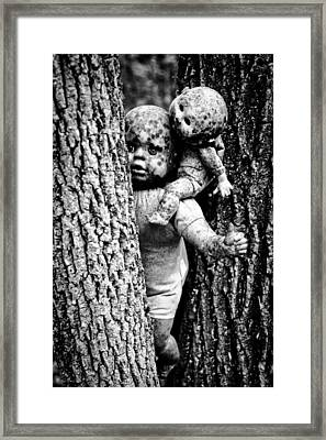 Zombie Dolls Black And White Framed Print by Shelly Stallings