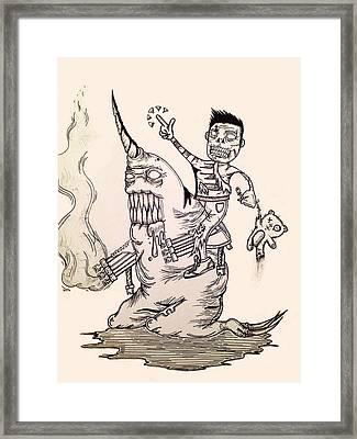 Zombie Nar Walmart Framed Print by Virgil Angeles