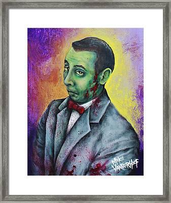 Zombie Pee Wee Framed Print by Mike Vanderhoof