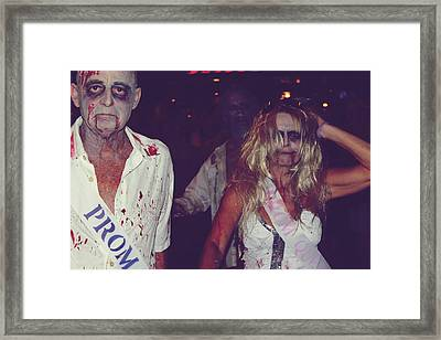 Zombie Prom King And Queen Framed Print
