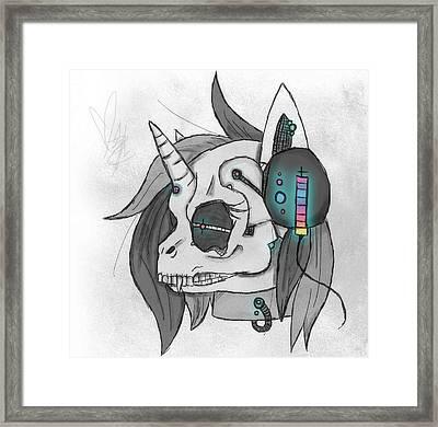 Zombie Scratch Framed Print by Nichole Geary