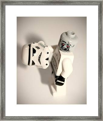Zombie Stormtrooper Framed Print by Martin Newman