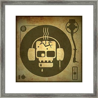 Zombie Turntable Framed Print by Milton Thompson