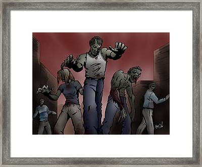 Zombies Framed Print by Joseph Vallejo