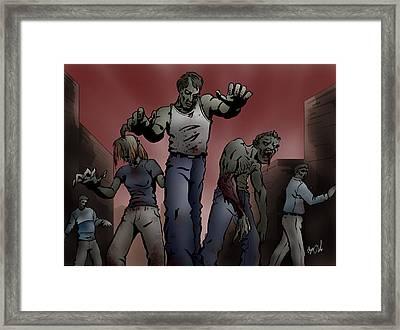 Zombies Framed Print by Joseph Vallejo
