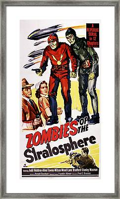 Zombies Of The Stratosphere, Us Poster Framed Print by Everett
