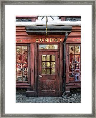 Zonkos Joke Shop Hogsmeade Framed Print by Edward Fielding
