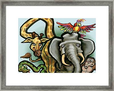 Zoo Animals Framed Print