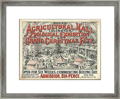 Zoological Exhibition Framed Print by British Library