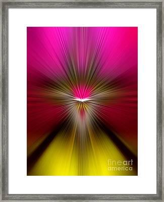 Zoom Framed Print by Trena Mara