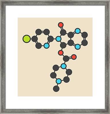 Zopiclone Insomnia Drug Molecule Framed Print by Molekuul
