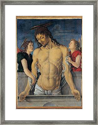 Zoppo Marco, Dead Christ Supported Framed Print by Everett