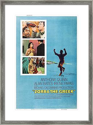 Zorba The Greek, Us Poster Art, Top Framed Print