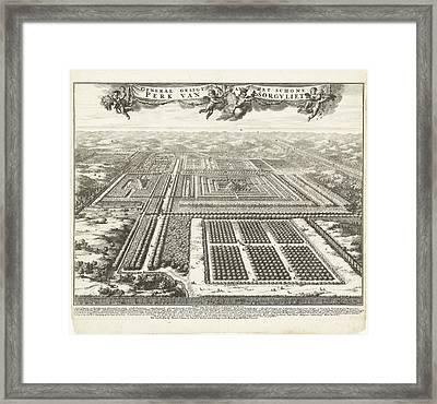 Zorgvliet Park In The Hague, The Netherlands Framed Print by Johannes Jacobsz Van Den Aveele And Johannes Covens And Cornelis Mortier