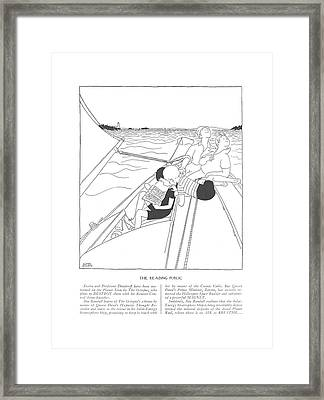 Zostra And Professor Dimitroff Have Been Marooned Framed Print