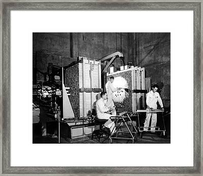 Zpr-iii Nuclear Reactor Framed Print by Us Department Of Energy