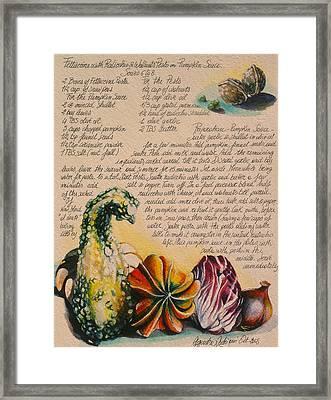 Zucche-pumpkin Framed Print by Alessandra Andrisani