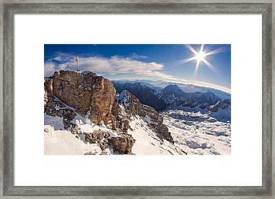 Zugspitze Summit Framed Print