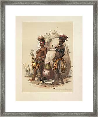 Zulu Boys Framed Print