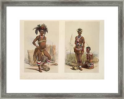 Zulu Dancers Framed Print