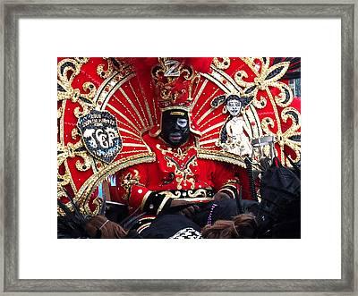 Zulu Mardi Gras Framed Print by Steve Archbold