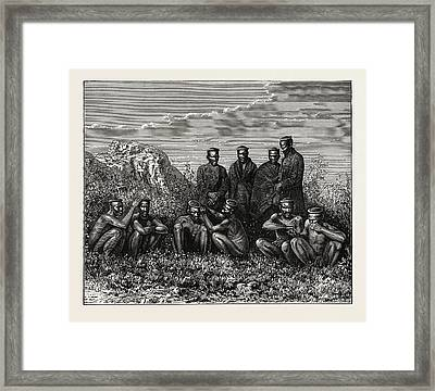 Zulus. The Zuluare The Largest South African Ethnic Group Framed Print