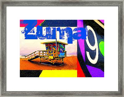 Zuma 9 Framed Print by Ron Regalado