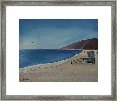 Zuma Lifeguard Tower Framed Print