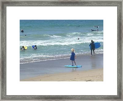 Zuma - Surf Camp 2  Framed Print by Nora Boghossian
