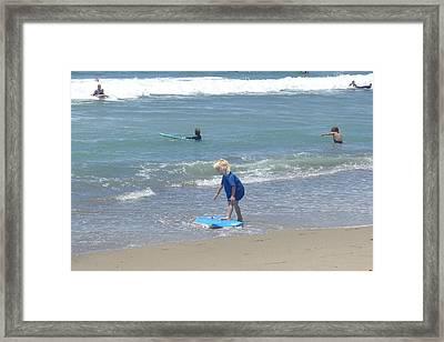 Zuma - Surf Camp 3 Framed Print by Nora Boghossian