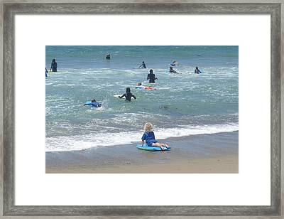 Zuma - Surf Camp 4 Framed Print