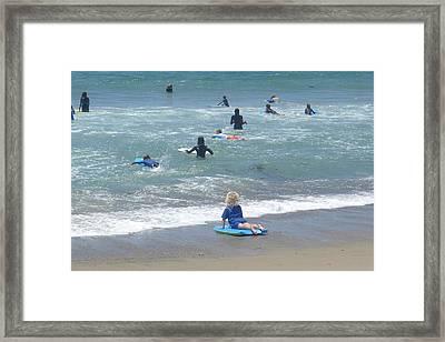Zuma - Surf Camp 4 Framed Print by Nora Boghossian