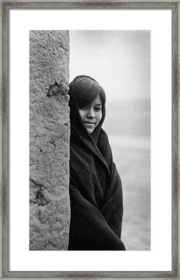 Zuni Indian Girl Circa 1903 Framed Print