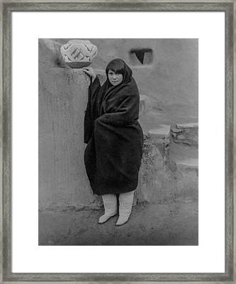 Zuni Woman Circa 1903 Framed Print by Aged Pixel
