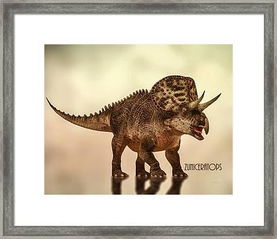 Zuniceratops Dinosaur Framed Print by Bob Orsillo