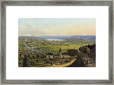 Zurich 1884 Framed Print by Mountain Dreams
