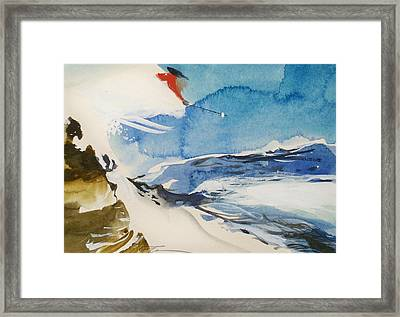 Framed Print featuring the painting Zurich by Ed  Heaton